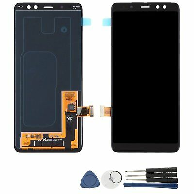 Black Touch Screen LCD Display Digitizer + Tools for Samsung Galaxy A8 2018 A530