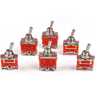 Micro Toggle Switch ON OFF 3PDT DPDT Momentary Maintained 15A/250V 10A/380V