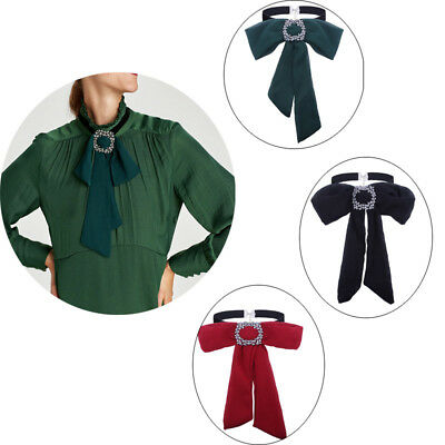 Women Chiffon Neck Tie Bow Tie Bowknot Professional Uniform Neckties for Shirt