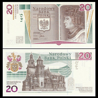Poland 20 Zlotych, 2015, NEW, 600th Anniversary COMM. , In Folder, UNC