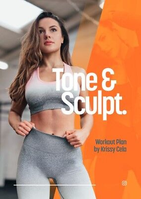 Krissy Cela NEW 8 Week Tone and Sculpt RRP £45 + FREE GUIDE - FAST DELIVERY