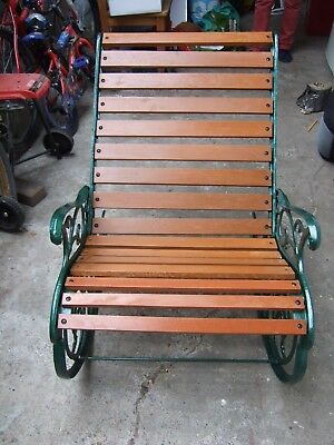 Cast Iron Rocking Chair Hammerite Green