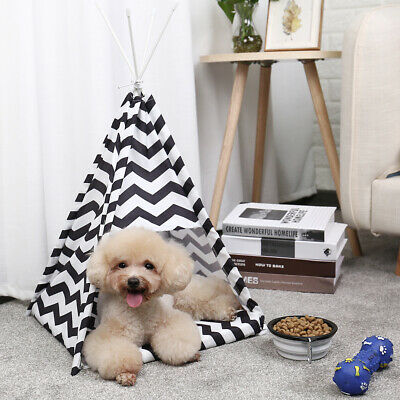 Pet Dog Cat Tent Bed Portable Folding Indoor Outdoor House Kennel Fun Tunnel Toy