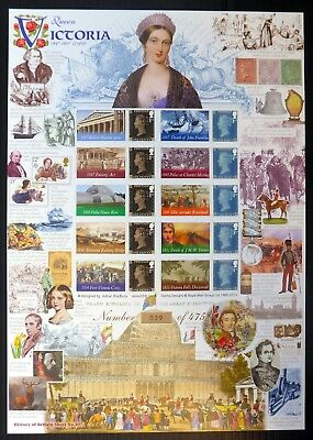 GB 2015 Queen Victoria 1847 - 1857 SMILERS Sheet Ltd Edition 39/475 BE366