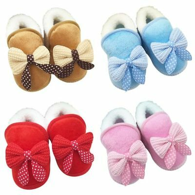 Winter Warm Baby Boys Girls Soft Slippers Non Slip Snow Boots Crib Casual Shoes