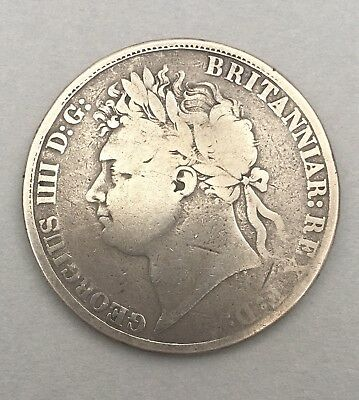 SILVER CROWN . 1822 . GEORGE IV . TERTIO . ESC 252 . Spink 3805