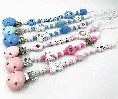 Personalised Dummy Clips for Girls and Boys Baby Shower or Christening Gift