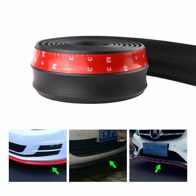 2.5M Universal Car Carbon Fiber Rubber Front Bumper Lip Side Skirt Protector LF