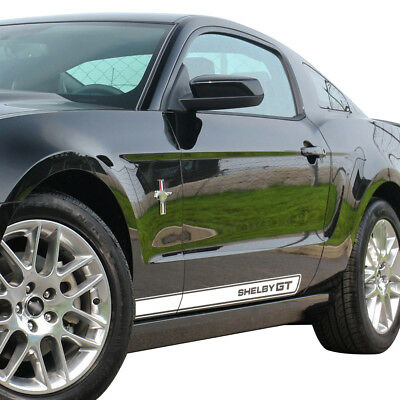 2pcs Door Side Stripes Rocker Panel Shelby GT Graphics Decals for Ford Mustang