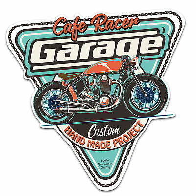 Cafe Racer Custom Old School Aufkleber Sticker Bobber Cafe Racer Retro #34