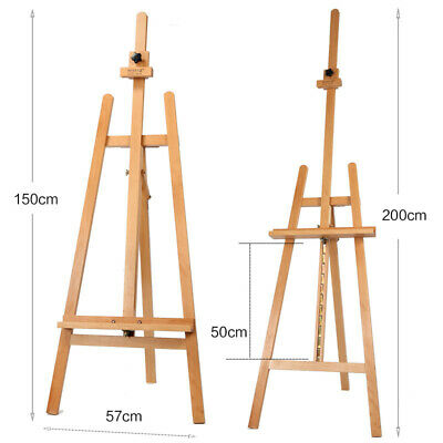 Mont Marte Table Easel With Drawer Pine Wood Artist Easel Stand Portable Folding