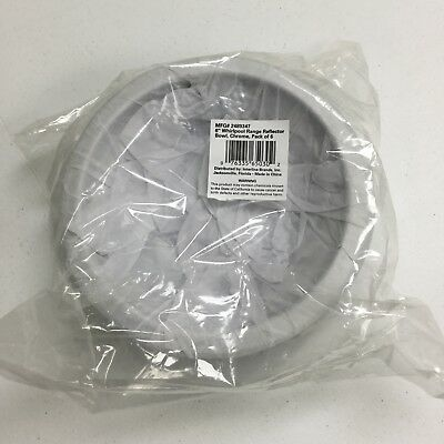 """6"""" Drip Pan for Whirlpool Range, Pack of 6, Chrome, # 2489347, Reflector Bowls"""