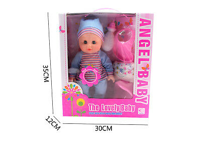 Blue Angel baby doll with potty, BIb, Bottle and Nappy