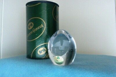 Tyrone Crystal Paperweight in Box