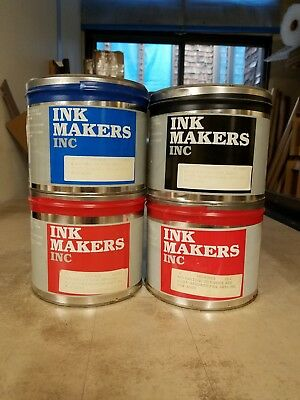 Lot of 14 Ink Makers Off Set Lithographic Printing Ink 5.5 lbs Unopened Cans