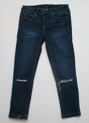 Girls Joe's Alisha Jeans in Ever Blue Cropped Distressed Size 12