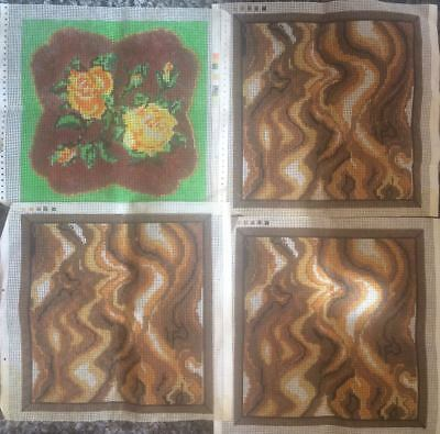 4 Tapestry canvases. 40x40cm worked area. 7 hpi  - Canvas only no yarns included