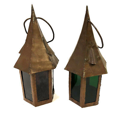 Antique Copper Art and Crafts Nautical lanterns - HAND MADE