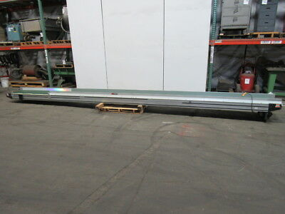 "Crizaf LH 18"" x 24' Slide Bed Belt Conveyor Power 38Fpm 115V 1 Ph"