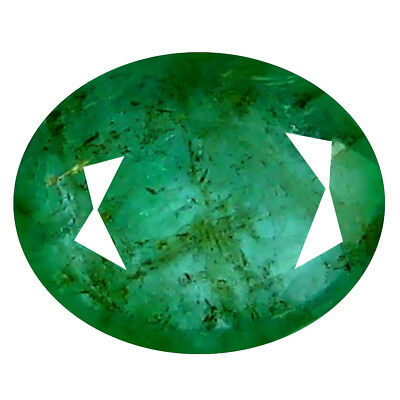 1.02 ct ASTONISHING OVAL CUT (7 X 6 MM) COLOMBIAN EMERALD NATURAL GEMSTONE