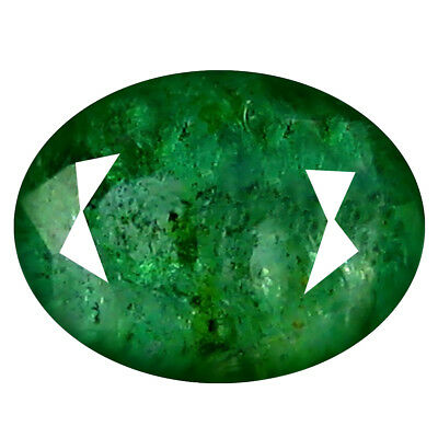1.27 ct MESMERIZING OVAL CUT (8 X 6 MM) COLOMBIAN EMERALD NATURAL GEMSTONE