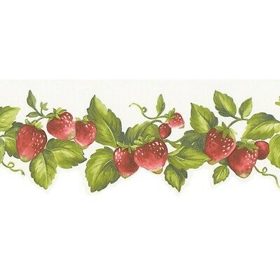 Strawberry Die-Cut Border FK72635DC country wallpaper garden fruit prepasted