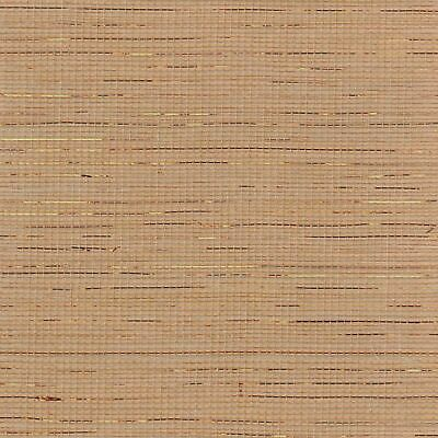 Natural Sisal Grasscloth Wallpaper with Copper Highlights MPC059 designer tan