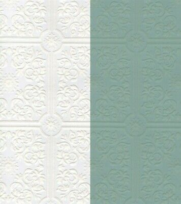 Paintable Tin Ceiling Tile Wallpaper P96291 White Washable Classic Prepasted