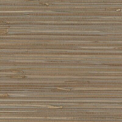 Wallpaper Grasscloth Blue Beige Natural Textured 2661-13 SAMPLE FREE Ship