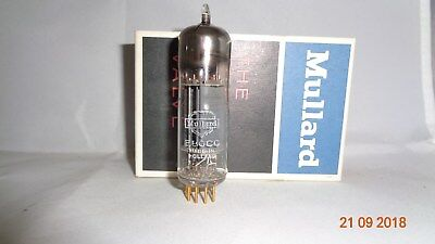 MULLARD E80CC pinched waiste D getter NOS 6085 strong matched sections Tube