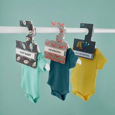 Peek-a-boo Baby Wardrobe Dividers. Pack of 7 from Newborn to 2 years