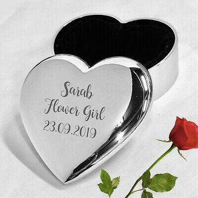 Personalised Trinket Box For Flower Girls Gifts Weddings Favours Ideas Thank You