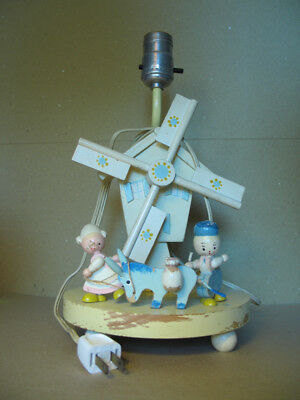 Vintage Musical Lamp - Attic Find! - Sweet Lullaby - Collectible - Windmill Kids