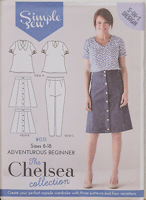 Simple Sew Sewing Pattern #031 Chelsea Collection Skirt Blouse Size 8-18 UNCUT