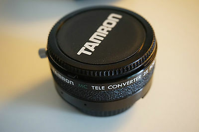 Tamron MC 2x Teleconverter Nikon for EM Lens with Case w/ front and rear caps