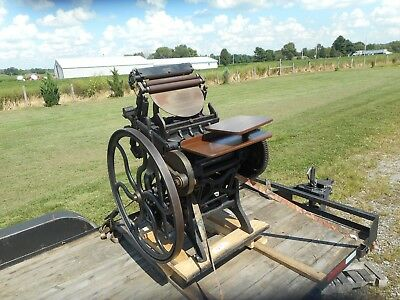 Chandler & Price Platen Press 10X15 Print RESTORED With Manual And Accessories