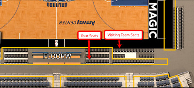 Orlando Magic Tickets - Courtside Floor Seats - Any Game - Make Offer