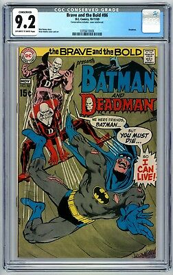 Brave and the Bold #86 CGC 9.2 Conserved Deadman 1969 Batman Deadman
