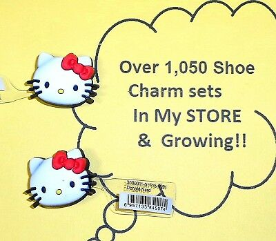 Jibbitz Hello Kitty Heads Shoe Charms put in Your Crocs   auction