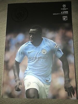 Man City FC v Lyon FC Programme (Season 2018-2019)