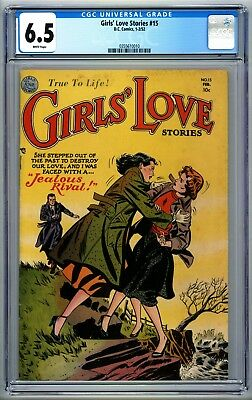 Girl's Love Stories #15 CGC 6.5 Scarce! White Pages 1952 DC