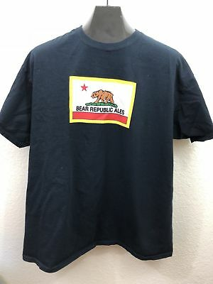 Bear Republic Sonoma County Ales Black Short Sleeve TShirt Mens Size XL