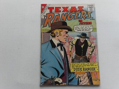 Texas Rangers  In Action   #25  Dec 1960   Charlton Western   Fine Condition