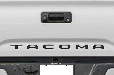 BLACK Tailgate Insert Letters Decal Vinyl Stickers for Toyota Tacoma 2016-2019