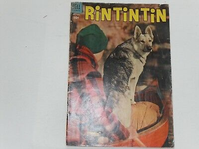 Rin Tin Tin   #6  Sept / Nov 1954   Dell  Western    Sparky Moore Art  Good Plus