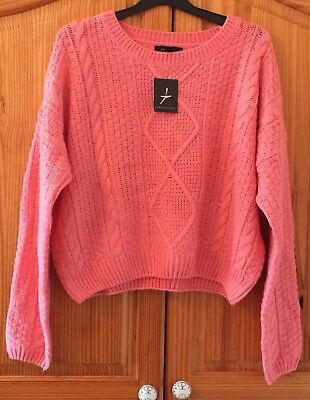 Atmosphere Pink Cable Knit Jumper BNWT Chunky Knitwear Primark Size 14