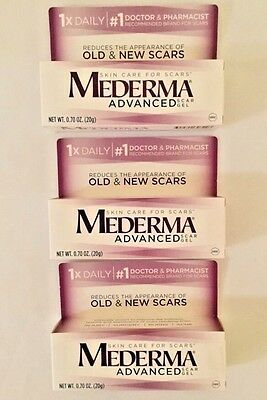 3 MEDERMA Advanced Scar Gels SEALED  0.70 oz each Expires 12/2019  Lot Of 3