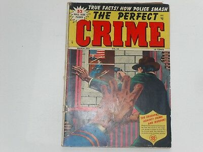 The Perfect Crime  #10 March 1951  Cross Pubs.   52 Pages  10 Cents 1951  Good++