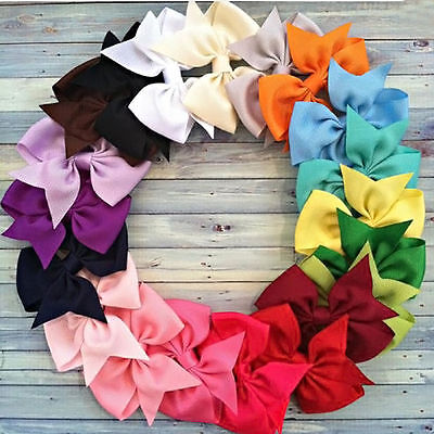 20PC Baby Big Hair Bows Boutique Girls Alligator Clip Grosgrain Ribbon Lot Gift