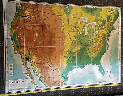 Goode Physical United States - RARE Antique And Very Large Map! Over 5ft Wide